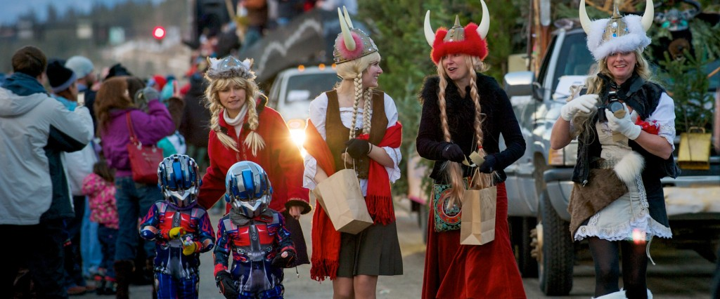 Ullr Parade during the week of Ullr Fest in January