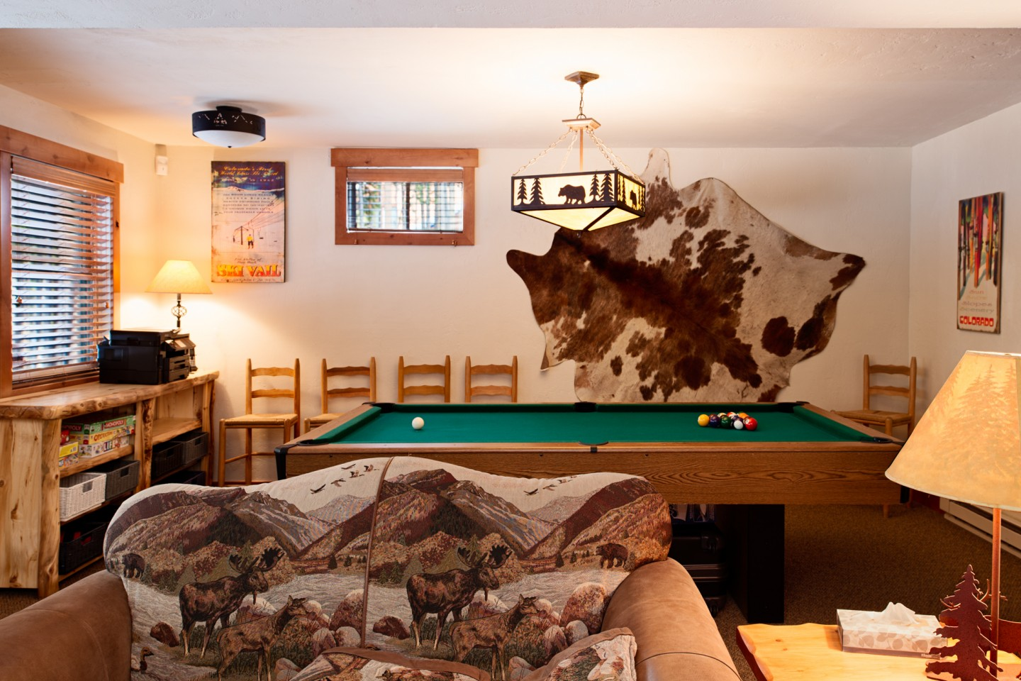 ... play pool or choose from a selection of board or Wii games
